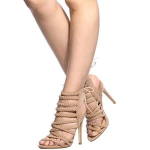 Cape Robbin Collma Strappy Braided Heels